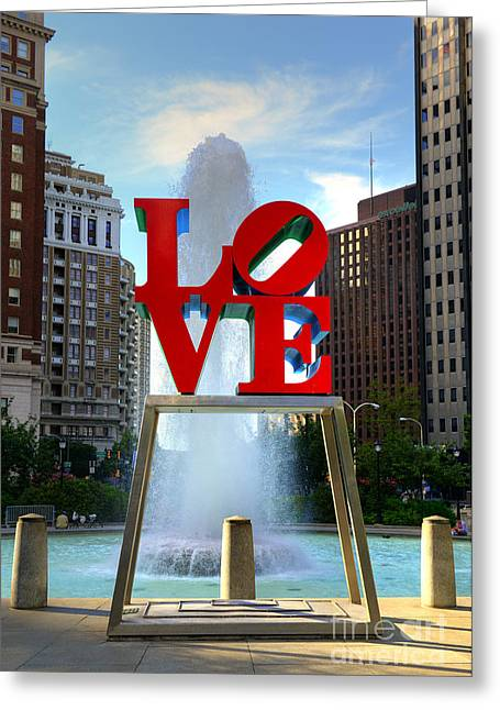 Luv Greeting Cards - Philly love Greeting Card by Paul Ward