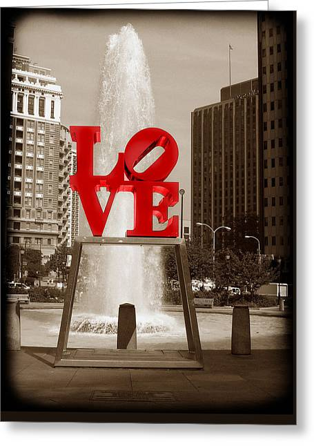 Philly Love Greeting Card by Skip Willits