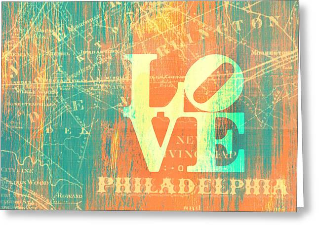 Philly Love V10 Greeting Card by Brandi Fitzgerald