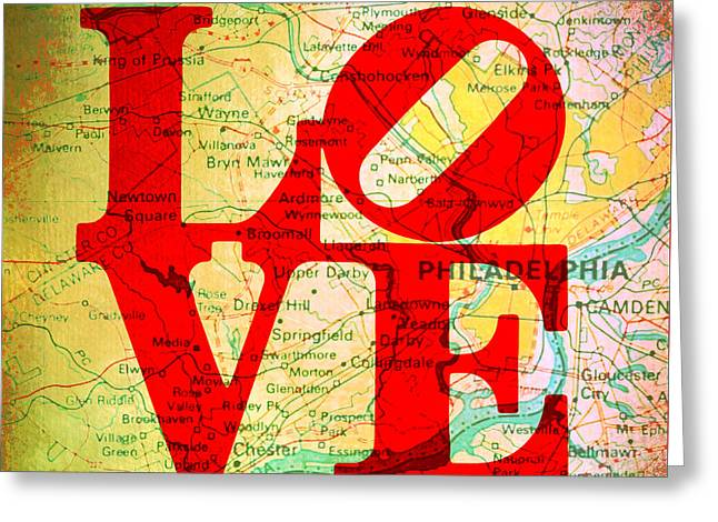 Philly Love V12 Greeting Card