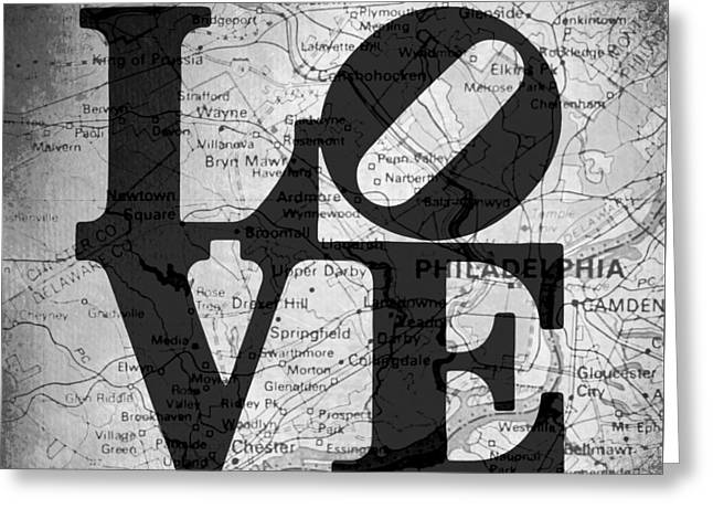 Philly Love V13 Greeting Card by Brandi Fitzgerald