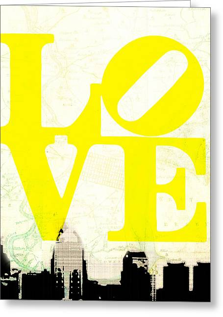 Philly Love V14 Greeting Card by Brandi Fitzgerald