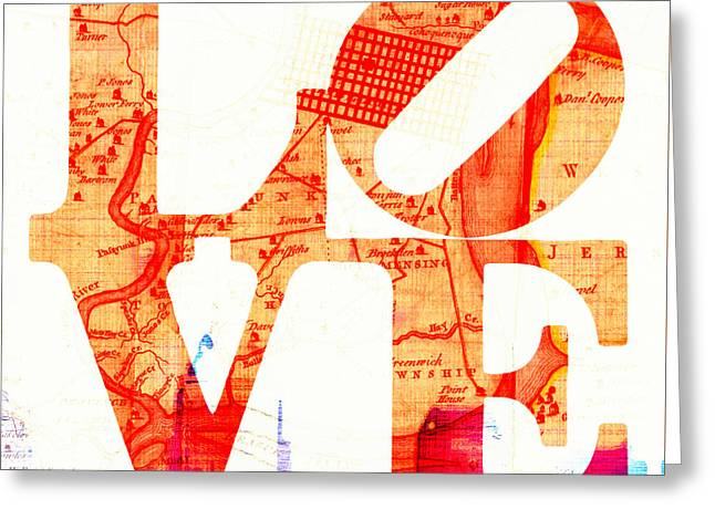 Philly Love V4 Greeting Card by Brandi Fitzgerald