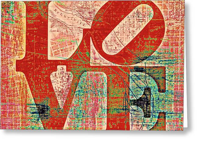 Philly Love V7 Greeting Card by Brandi Fitzgerald