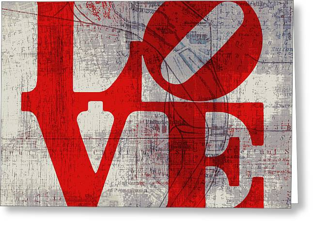 Philly Love V8 Greeting Card by Brandi Fitzgerald