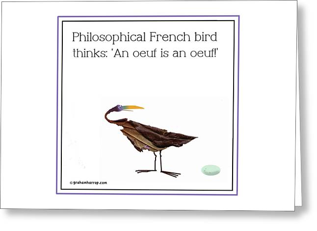 Philosophical Bird Greeting Card