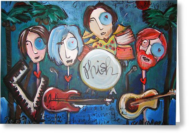 Phish At Big Cypress Greeting Card by Laurie Maves ART