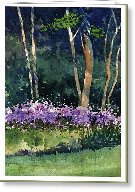 Phlox Meadow, Harrington State Park Greeting Card