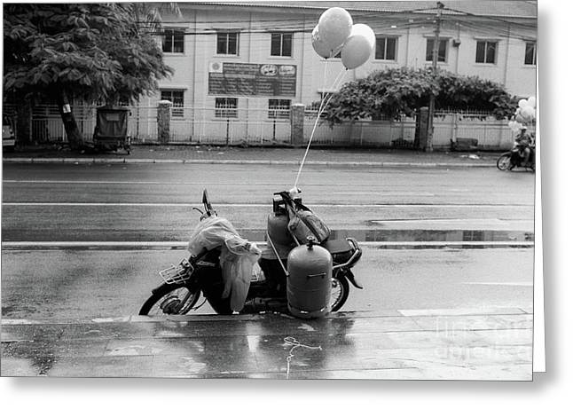 Phnom Penh Balloon Salesman Greeting Card