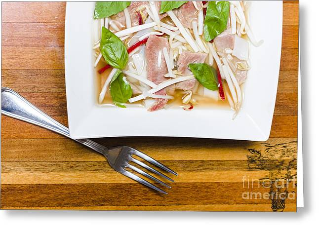 Pho Lao Style Noodle Soup Greeting Card