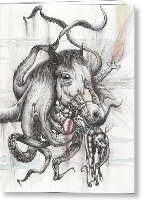 Phobia Fare Greeting Card by Tai Taeoalii
