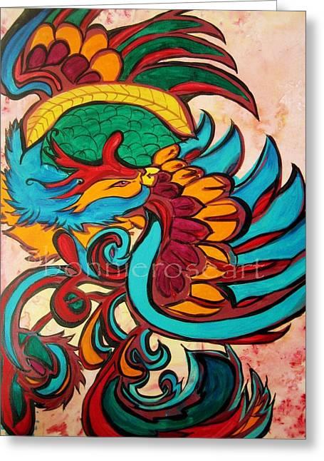 Phoenix 2 Greeting Card by Bonnie Rose Parent