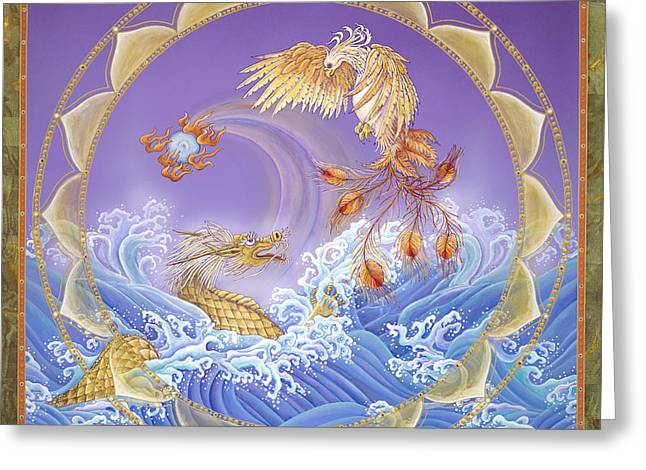 Phoenix And Dragon Greeting Card
