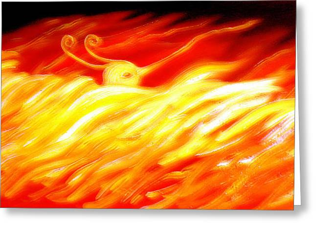 Phoenix Greeting Card by Barbara Stirrup