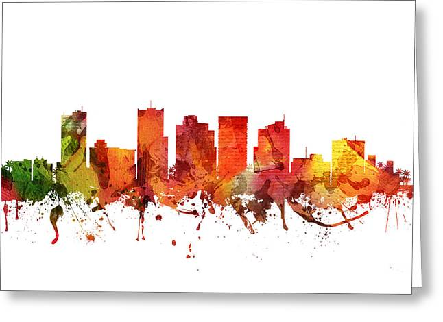 Phoenix Cityscape 04 Greeting Card