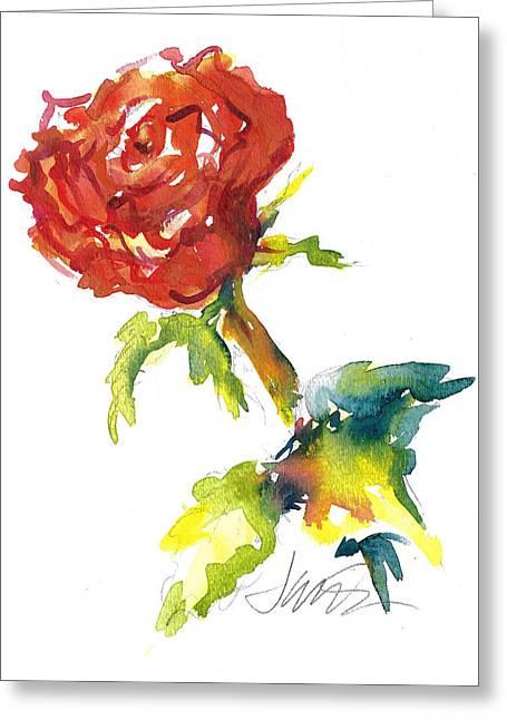 The Phoenix Rose Greeting Card