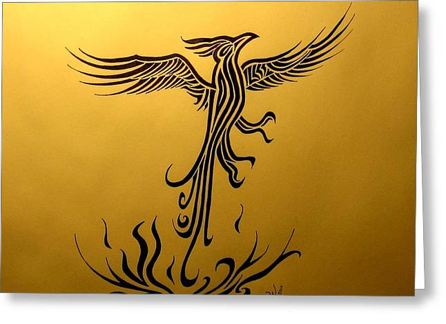 Phoenix Greeting Card