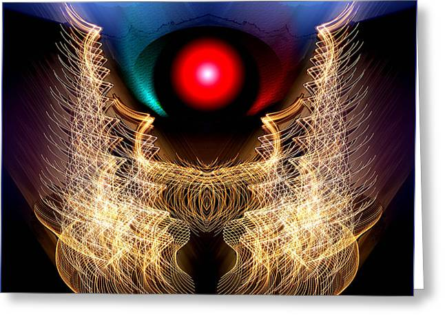 Phoenix On Fire Greeting Card