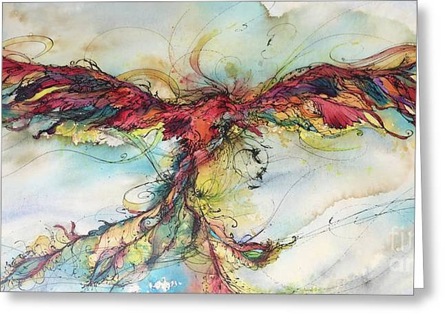 Phoenix Rainbow Greeting Card