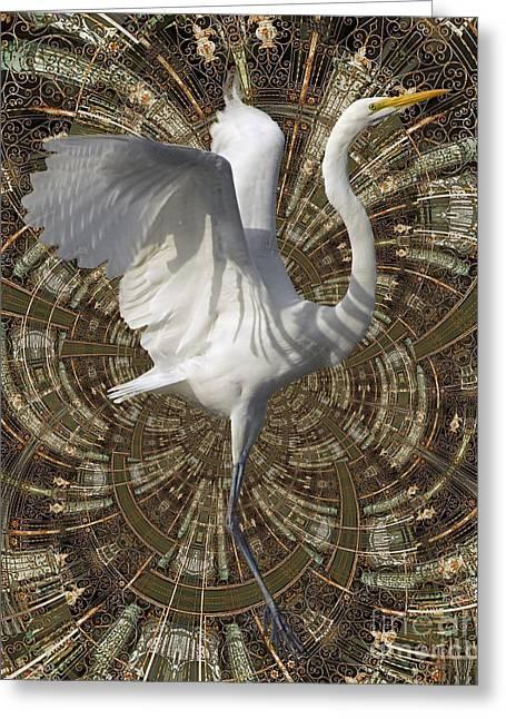 Phoenix Rising Greeting Card by Chuck Brittenham