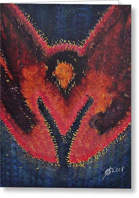Phoenix Rising Original Painting Greeting Card