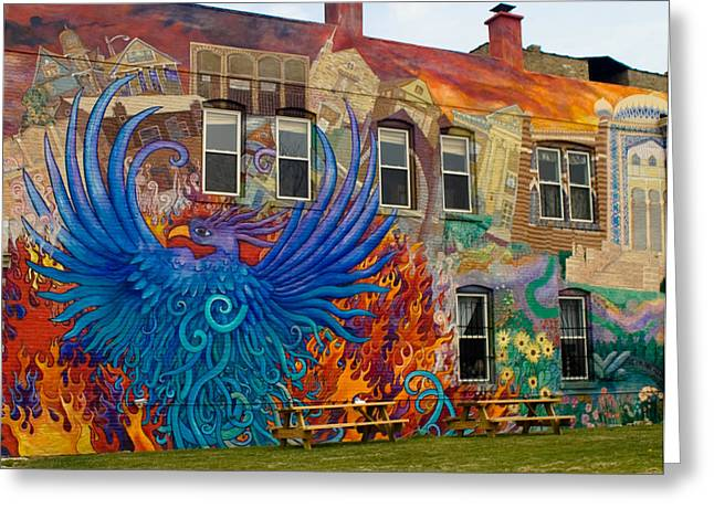 Phoenix Rising Greeting Card by Peter Skiba