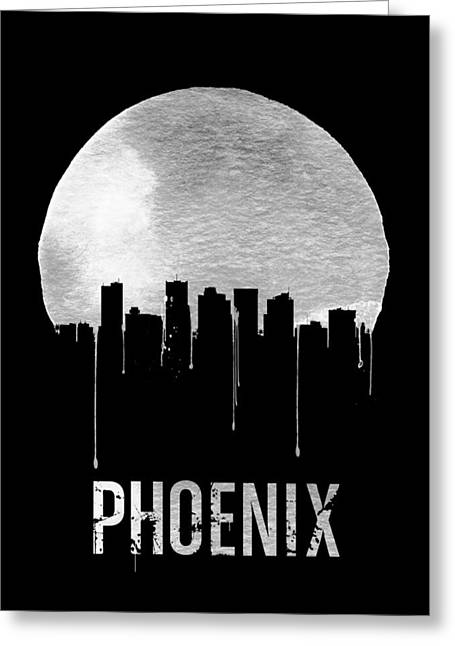 Phoenix Skyline Black Greeting Card