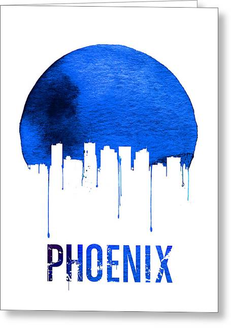 Phoenix Skyline Blue Greeting Card
