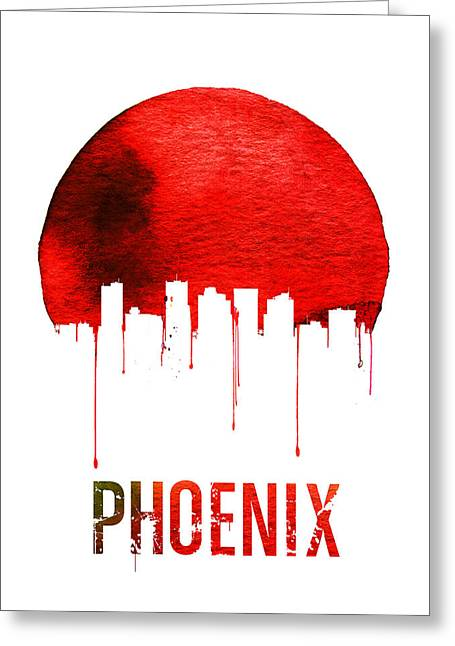 Phoenix Skyline Red Greeting Card