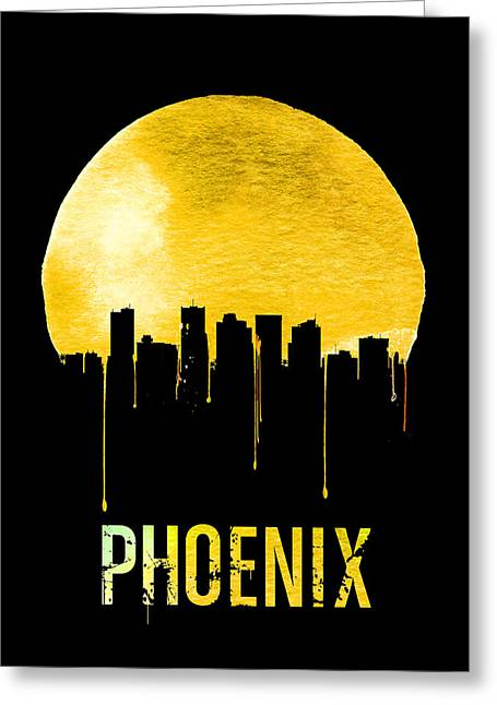 Phoenix Skyline Yellow Greeting Card