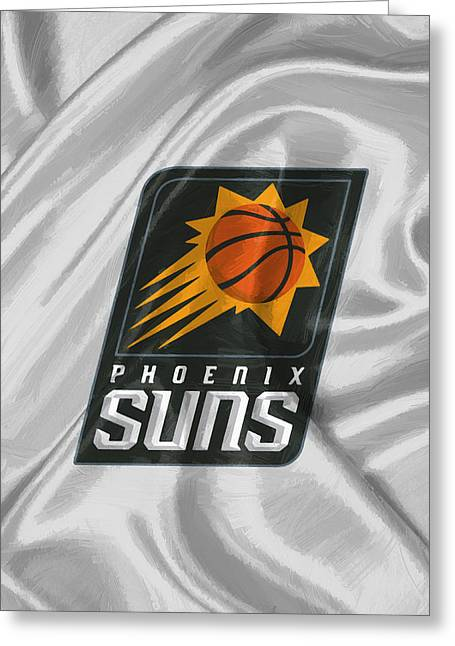 Phoenix Suns Greeting Card by Afterdarkness