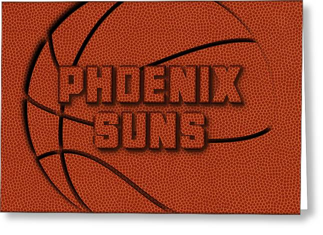 Phoenix Suns Leather Art Greeting Card
