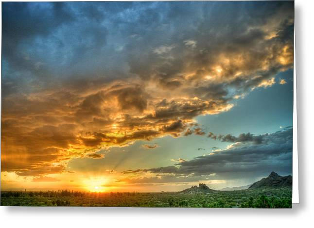 Phoenix Sunset Greeting Card