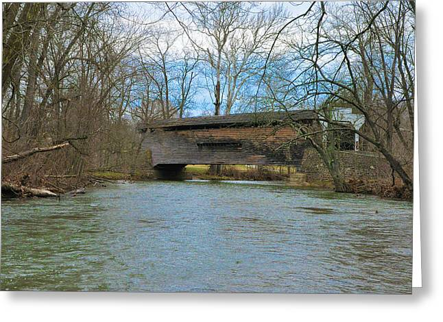 Phoenixville Pa - Kennedy Covered Bridge Greeting Card by Bill Cannon