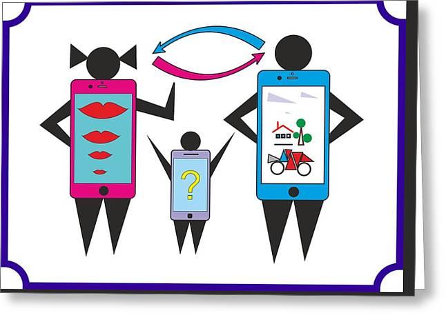 phone family - My WWW vikinek-art.com Greeting Card