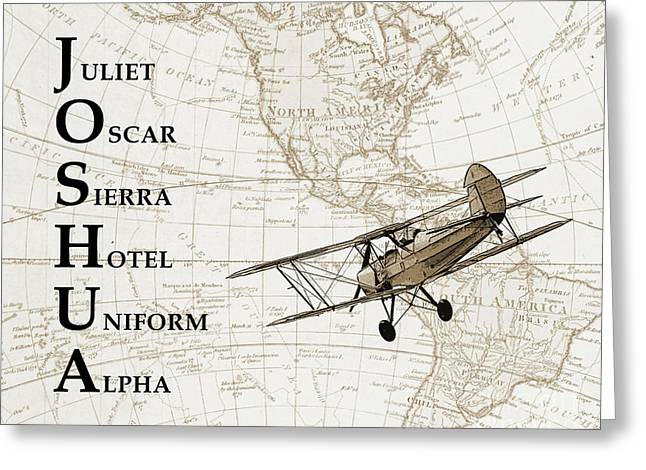 Phonetic Alphabet Custom Name Greeting Card by Delphimages Photo Creations