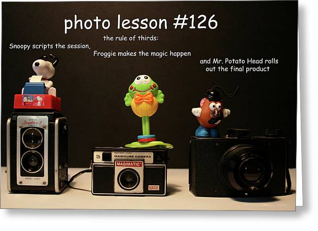 Photo Lesson  Greeting Card by Toni Hopper