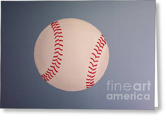Photo Of Painted Baseball Greeting Card by Linda Drown