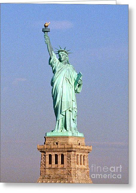 Photo Of The Statue Of Liberty Greeting Card