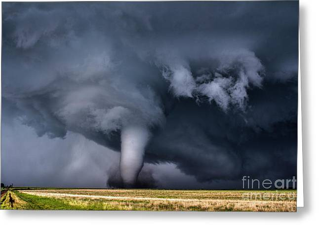 Photogenic Tornado Greeting Card by Francis Lavigne-Theriault