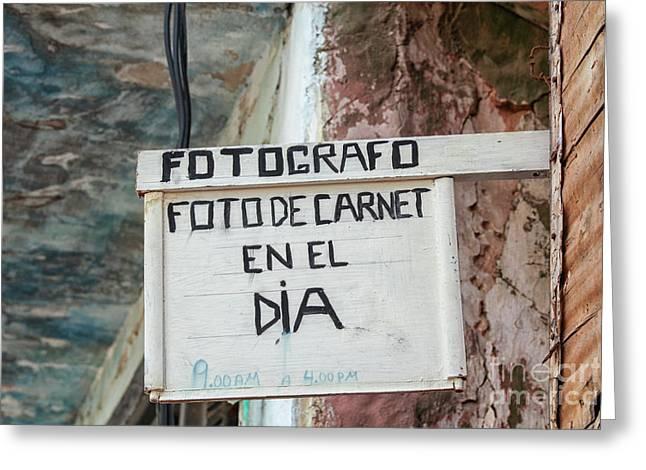 Photographer In Cuba Greeting Card