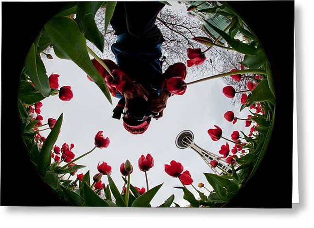 Photographer In Wonderland H084 Greeting Card by Yoshiki Nakamura
