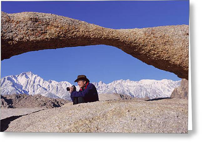 Photographer Joe Sohm With Panoramic Greeting Card by Panoramic Images