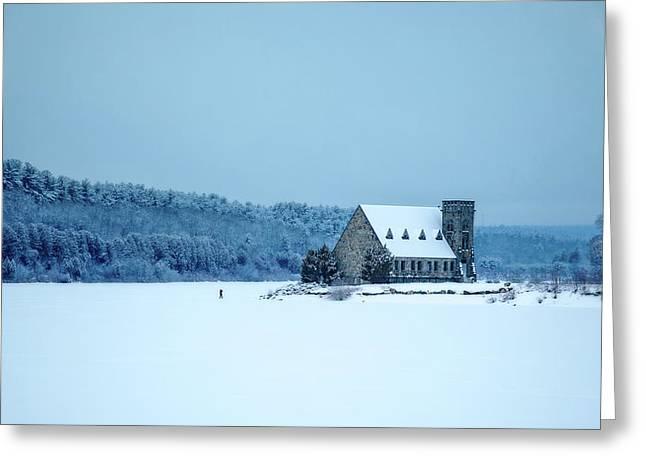 Photographer On Thin Ice Greeting Card