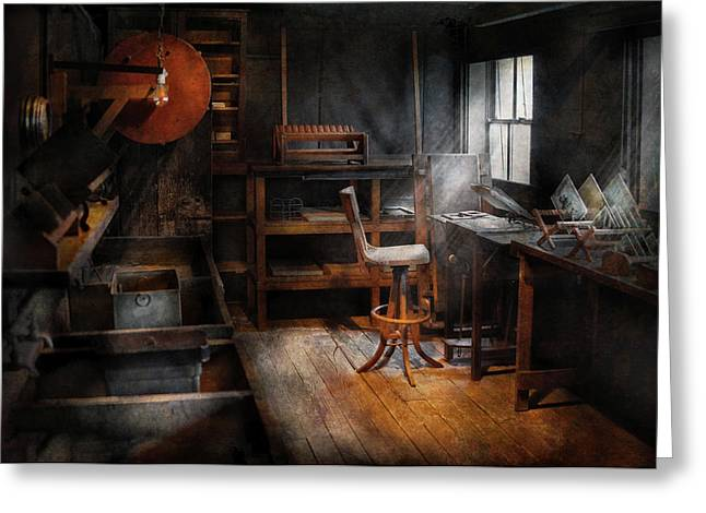Photography - Making Glass Plates  Greeting Card by Mike Savad