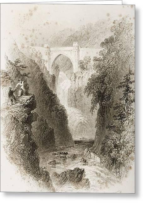 Phoul A Phuca Falls, Ireland.drawn By Greeting Card
