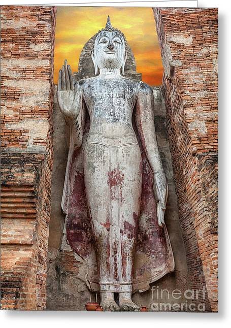 Phra Attharot Buddha Greeting Card by Adrian Evans