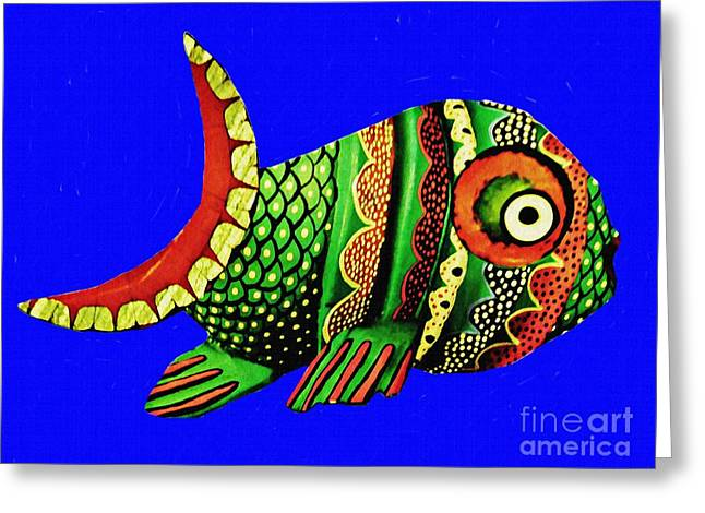 Phred Phish Greeting Card by Sarah Loft