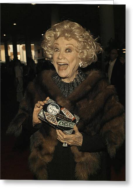Phyllis Diller Greeting Card by Nina Prommer