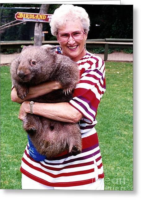 Phyllis Holding Thirty Lb Wombat Australia Greeting Card